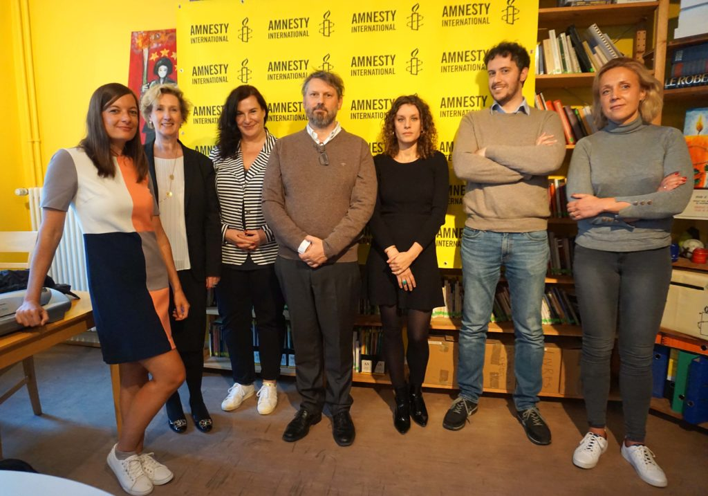 Photo de groupe du conseil d'administration d'Amnesty International Luxembourg.