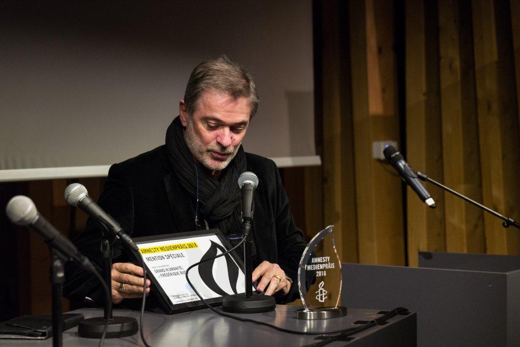 Le documentaire Grand Humanité de Frédérique Buck reçoit une mention spéciale lors de la remise de l'Amnesty Mediepräis 2018